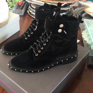 Velvet Vince Camuto Combat Boots Size 7